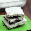 Mint Chocolate Frozen Pie Bars
