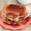 Peanut Butter and Jelly Swirled Pancakes