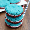 Red, White, and Blue Sandwich Cookies
