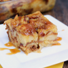 Salted Caramel Pina Colada Bread Pudding