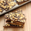 Chocolate Peanut Butter Graham Cracker Toffee and Graham Cracker Houses