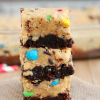Monster Cookie Dough Brownies