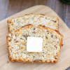 Garlic Cheddar Bacon Beer Bread