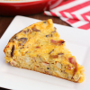 Cheesy Leek Mushroom Bacon Quiche