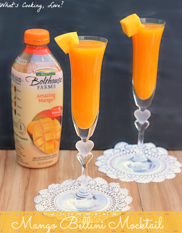 "Mango Bellini Mocktail and Juice ""Happy Hour"" - Whats Cooking Love?"