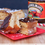 Apple Butter Cream Cheese Stuffed French Toast