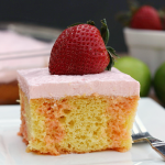 Strawberry Margarita Poke Cake