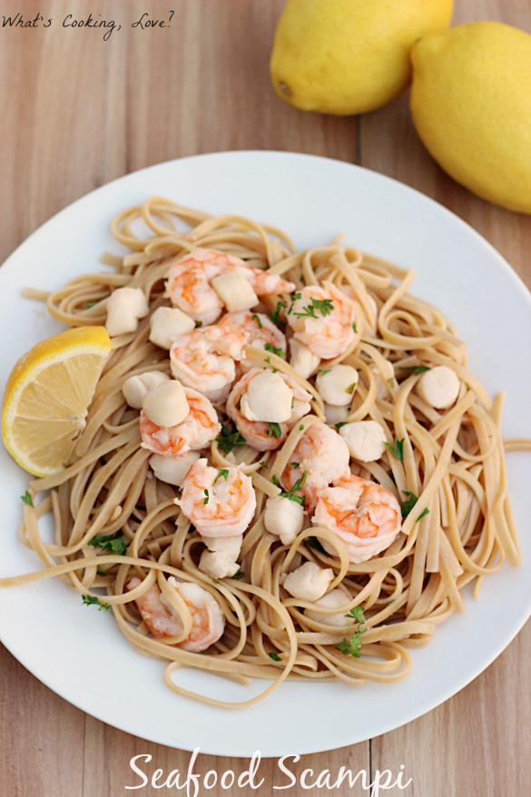 Seafood Scampi - Whats Cooking Love?