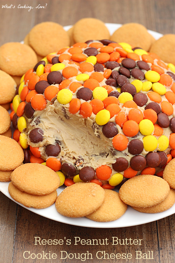 Christmas Cheese Ball.Reese S Peanut Butter Cookie Dough Cheese Ball