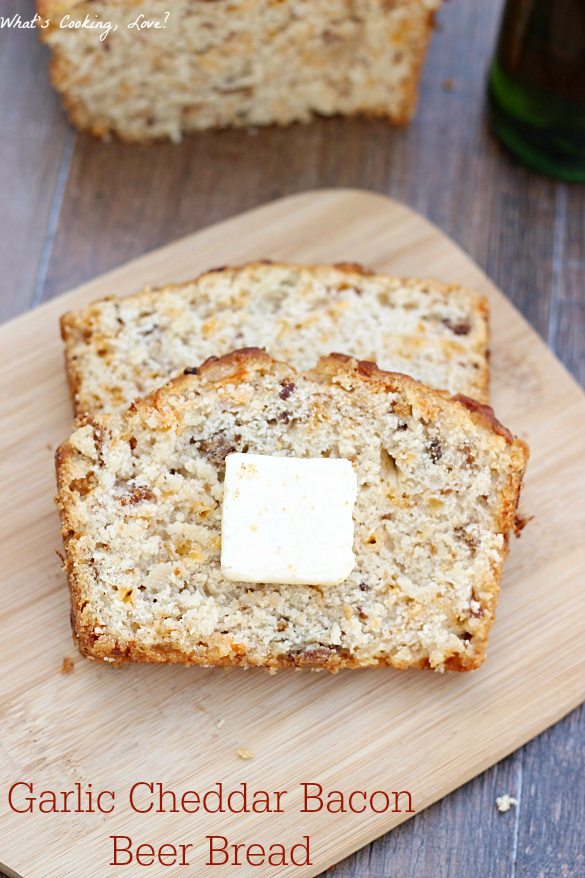Garlic Cheddar Bacon Beer Bread - Whats Cooking Love?