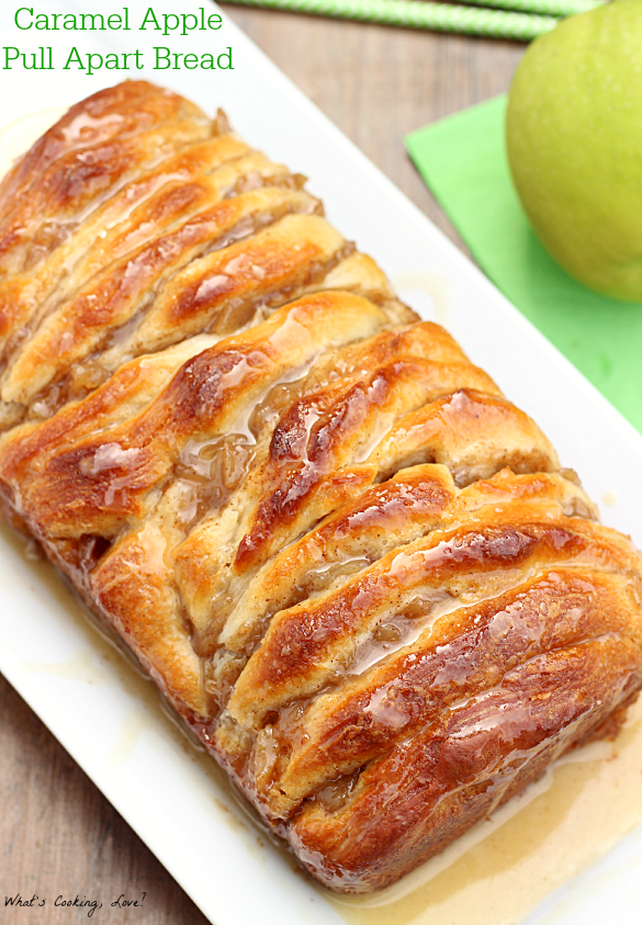 Caramel Apple Pull Apart Bread Whats Cooking Love