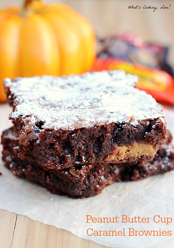 Peanut Butter Cup Caramel Brownies - Whats Cooking Love?