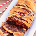 Strawberry Nutella Pull Apart Bread